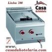 Fritadeira Industrial Eléctrica Trifásica de 1 Cuba de 12 Litros da Linha 700, Potência de 9 kW (transporte incluído) - Refª 100093