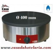 Máquina de Fazer Crepes Industrial a Gás de Ø 400 mm - Crepeira - Refª101288
