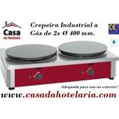 Crepeira Industrial a Gás de 2x Ø 400 mm - Refª101290