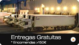 Entregas Gratuitas em Portugal Continental