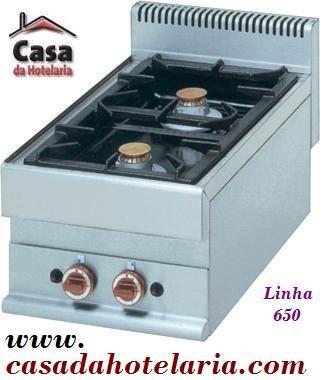 Fogão Industrial a Gás de 2 Queimadores da Linha 650 (transporte incluído) - Refª 100011