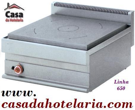 Fogão Industrial a Gás de Placa Radiante da Linha 650 (transporte incluído) - Refª 100013
