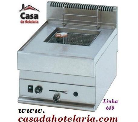 Fritadeira Industrial a Gás de 1 Cuba de 8 Litros da Linha 650, 5400 kcal/h (transporte incluído) - Refª 100021