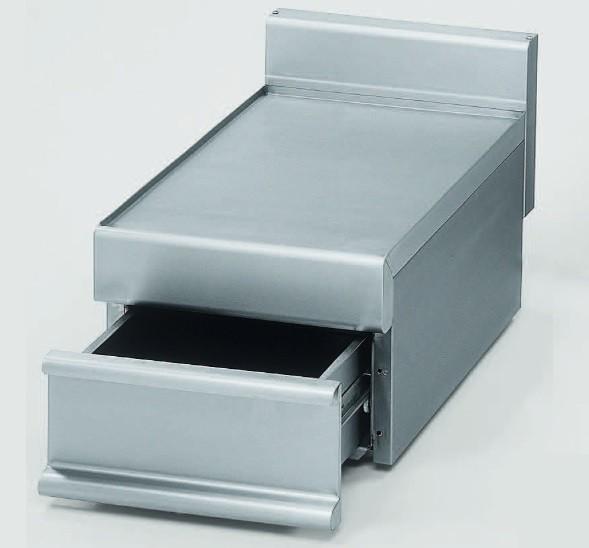 Elemento Neutro com Gaveta para Cubas GN até 150 mm de Profundidade, Dimensões de 400x650x280/380 mm (LxPxA) (transporte incluído) - Refª 100047