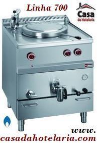 Marmita Industrial a Gás de 50 Litros com Aquecimento Indirecto da Linha 700, 10750 kcal/h (transporte incluído) - Refª 100127