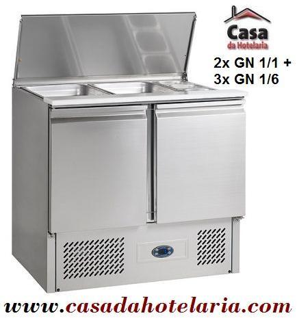 """""""Saladette"""" Refrigerada e Ventilada de 240 Litros com Tampa, dimensões de 900x700x850/1180 mm (LxPxA) (transporte incluído) - Refª 100175"""