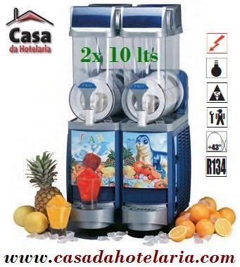 Dispensador de Sumos Granizados 2x 10 Litros (transporte incluído) - Refª 100258