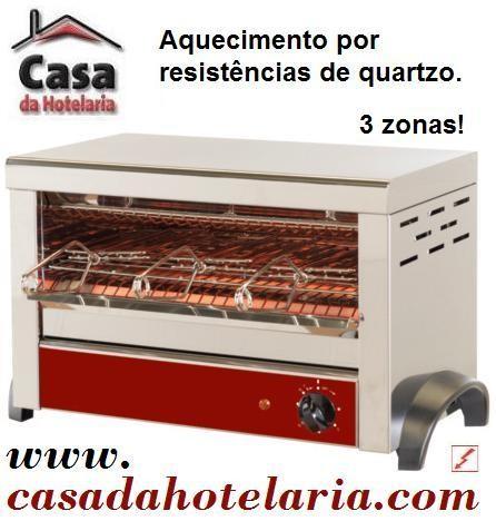 Torradeira Industrial de 3 Pegas com Temporizador, 1800 Watts - Refª 100281