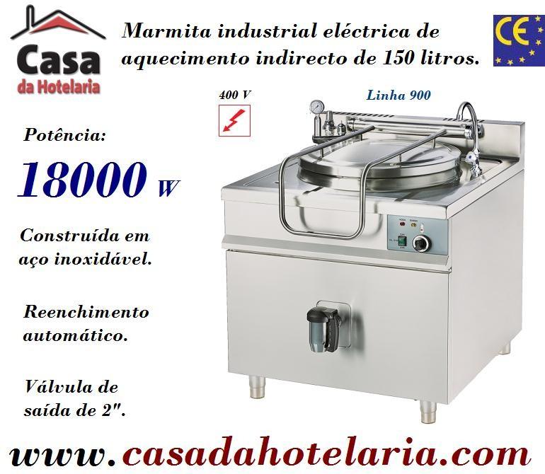 Marmita Industrial Eléctrica de Aquecimento Indirecto de 150 Litros da Linha 900 (transporte incluído) - Refª 100335