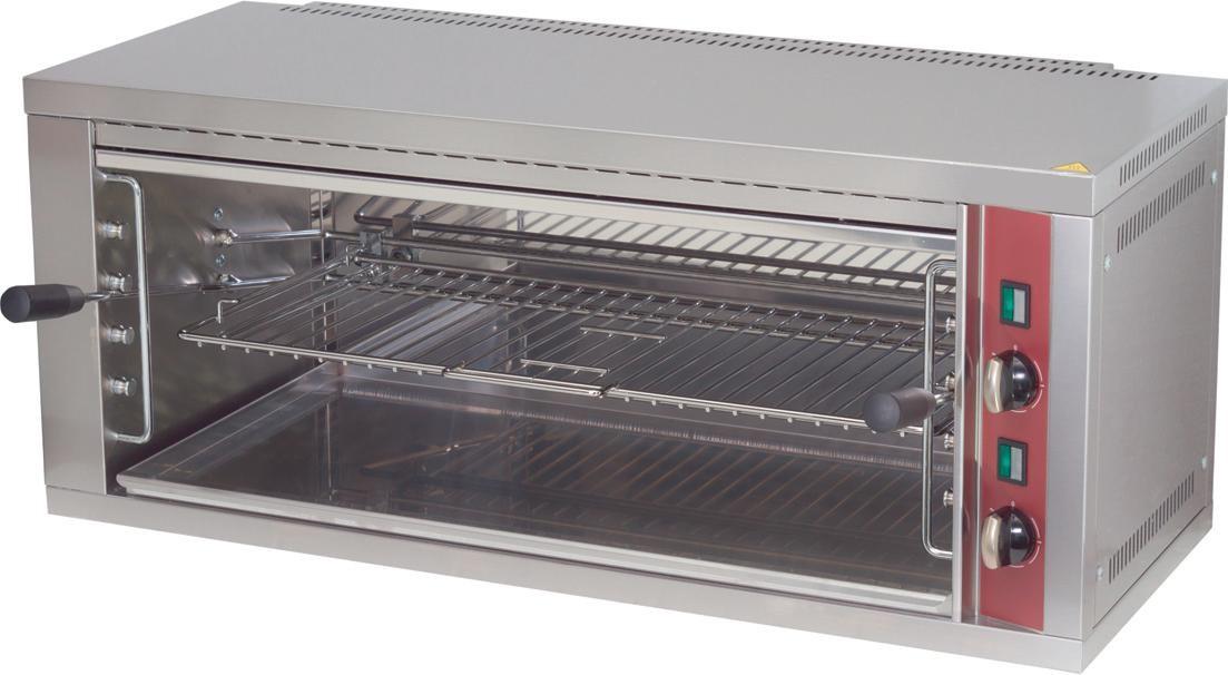 Salamandra Eléctrica Industrial Trifásica com Grelha Ajustável e Painel Traseiro Removível, 4400 Watts (transporte incluído) - Refª 100353