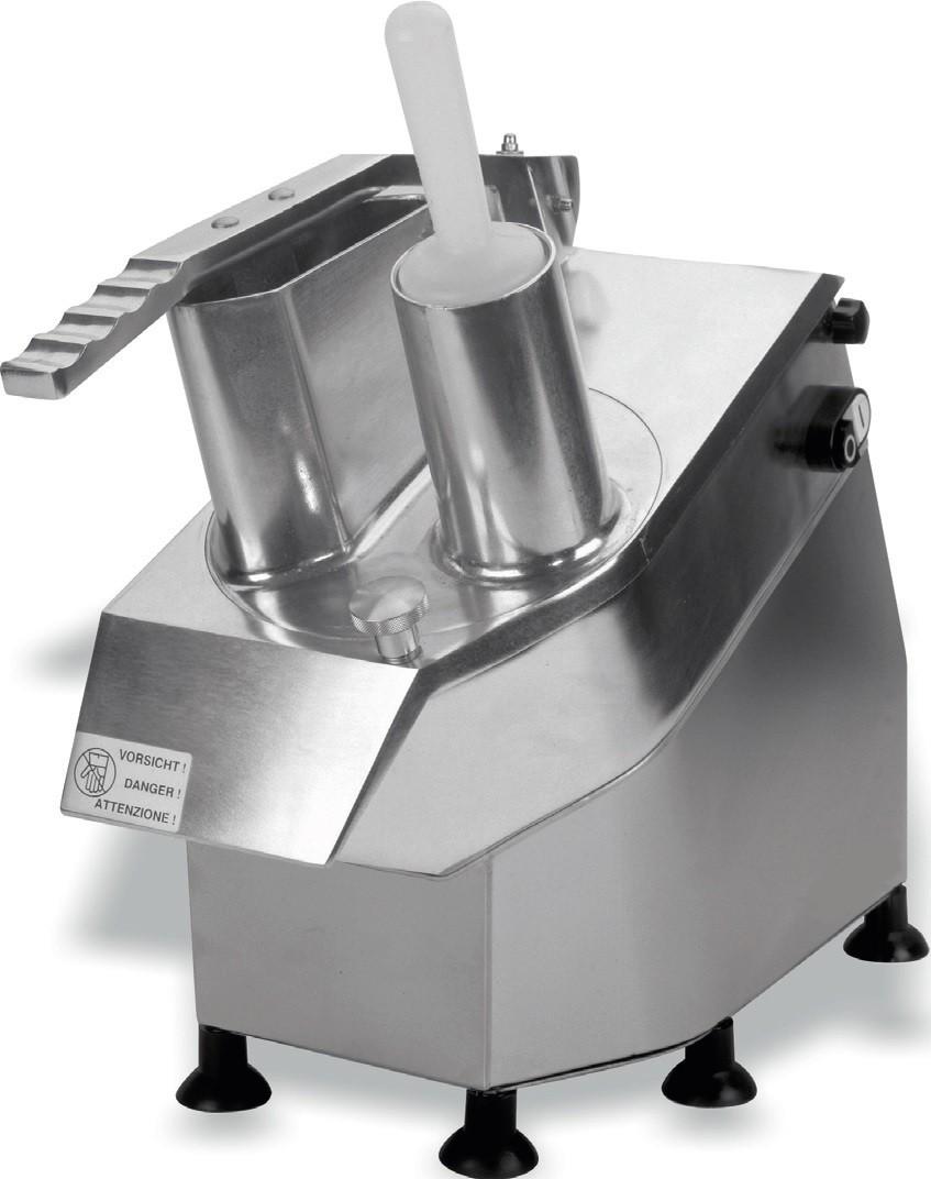 Cortadora de Vegetais Monofásico em Liga de Alumínio e Inox com Produção de 100 a 300 kg/h, 380 Watts (transporte incluído) - Refª 100497