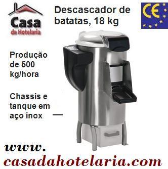 Descascador de Batatas Automático Industrial com Capacidade para 18 Kg, Produção de 500 kg/hora, Hp 1.2 (transporte incluído) - Refª 100533