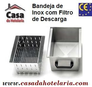Bandeja de Inox com Filtro para Descarga - Refª 100534