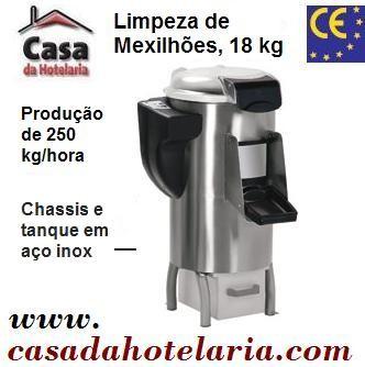 Máquina para Limpeza de Mexilhões 18 Kg, Produção 250 Kg/h (transporte incluído) - Refª 100627