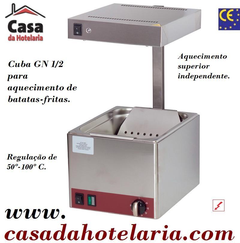 Bacia de Aquecimento Monofásica GN 1/2 para Saltear Batatas-Fritas, 850 Watts (transporte incluído) - Refª 101120