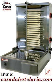Grelhador Industrial Kebab Eléctrico Trifásico com Espeto de 600 mm, 25 a 35 kg, Potência de 5800 Watts (transporte incluído) - Refª 101274