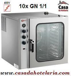 Forno Eléctrico de Convecção de 10 Níveis GN 1/1 Industrial - Trifásico (transporte incluído) - Refª 101342