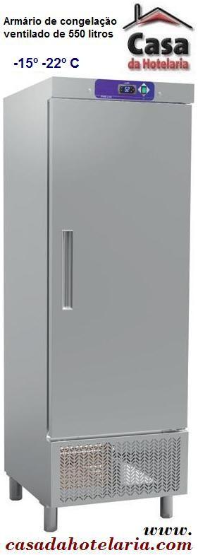Armário de Congelação Ventilado Industrial de 550 Litros em Inox (transporte incluído) - Refº 101447