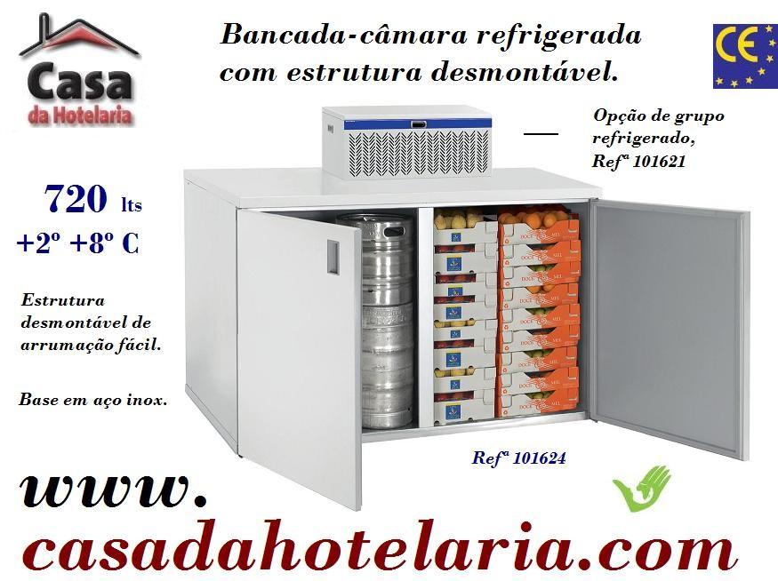 Bancada - Câmara Refrigerada Desmontável, 720 Litros (transporte incluído) - Refª 101623