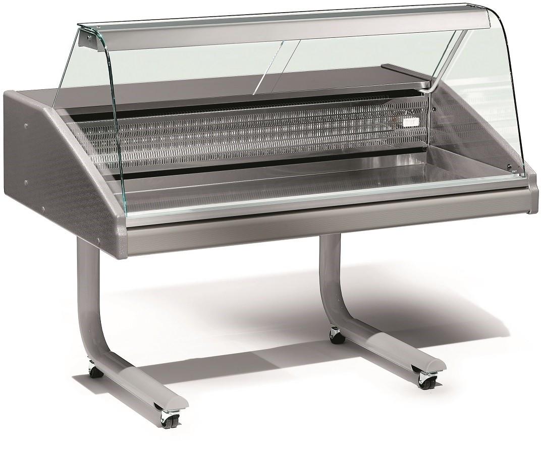 Vitrina Expositora Refrigerada de 1,5 Metros com Zona de Exposição em Inox, Especial Peixe, Temp. 0º + 2º C (transporte incluído) - Refª 101980