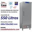Armário Refrigerado Ventilado Industrial de 550 Litros em Inox, Temperatura 0º + 8º C (transporte incluído) - Refº 101343