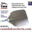 Pá de Pizzas com Cabeça em Aço Inox de 330x330 mm e Comprimento de 1520 mm - Refª 101459