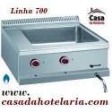 Banho Maria Industrial Elétrico Monofásico GN 2/1 com Saída de Drenagem da Linha 700, 3000 Watts (transporte incluído) - Refª 100119