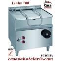 Fritadeira Basculante Eléctrica de 60 Litros da Linha 700, Potência de 9000 Watts (transporte incluído) - Refª 100124