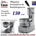 Máquina Formadora de Hambúrgueres Manual até Ø 130 mm (transporte incluído) - Refª 100476