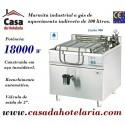 Marmita Industrial a Gás de Aquecimento Indirecto de 100 Litros da Linha 900 (transporte incluído) - Refª 100970