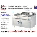 Marmita Industrial a Gás de Aquecimento Indirecto de 300 Litros da Linha 900 (transporte incluído) - Refª 100973