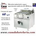 Marmita Industrial de Aquecimento a Vapor com Caldeira de 150 Litros da Linha 900 (transporte incluído) - Refª 101000