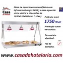 Ponte de Aquecimento Monofásica com Lâmpadas Infravermelhas 3x 250W e Base Aquecida (transporte incluído) - Refª 101030