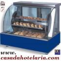 Forno Eléctrico Rotativo com Painel de Vidro Curvo Atérmico com KIT para Pastelaria (transporte incluído) - Refª 101458
