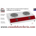 Fogão Eléctrico Industrial de Bancada com 2 Placas Redondas, 2x 1500 Watts (transporte incluído) - Refª 101599
