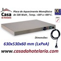 Placa de Aquecimento Monofásica com 630x530x60 mm LxPxA, 500 Watt, +30º +90º C (transporte incluído) - Refª 101859