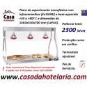 Ponte de Aquecimento de Comida com Lâmpadas Infravermelhas 4x 250W e Base Aquecida, 2300 W (transporte incluído) - Refª 101870