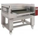 Forno de Tunel a Gás Industrial Ventilado para Pizzas com Esteira de Largura de 1000 mm sobre Base com Rodas, 38700 kcal/h (transporte incluído) - Refª 102628