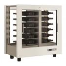 Armário Refrigerado Ventilado, Vitrina para Vinhos, Adega Branca com Portas em Vidro, Capacidade para 216 Litros, +4º +16º C (transporte incluído) - Refª 102333