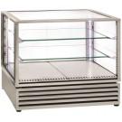 Vitrina Refrigerada Ventilada Panorâmica em Aço Inox de 3 Níveis com Portas Deslizantes, +2º +10º C (transporte incluído) - Refª 102336