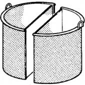 Cesto Dividido para Marmitas de 50 Litros (transporte incluído) - Refª 100592