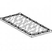 Placa Lisa para 2 Queimadores (transporte incluído) - Refª 100745