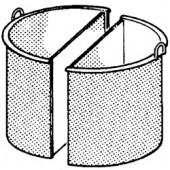 Cesto Dividido em Aço Inox para Marmitas de 150 Litros (transporte incluído) - Refª 100596