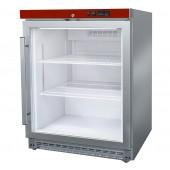 Armário de Refrigeração Industrial Ventilado de 150 Litros em Aço Inoxidável com Porta de Vidro Temperado, Temperaturas -1º +6º C (transporte incluído) - Refª 102505