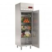 Armário Refrigerado Industrial Ventilado em Aço Inoxidável, Frigorífico com 400 Litros, Refrigeração de -2º + 8º C (transporte incluído) - Refª 100180