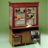 Buffet 4x GN 1/1 em Móvel Expositor Refrigerado com Stock Independente (transporte incluído) - Refª 101075