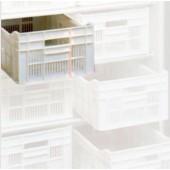 Caixa de Armazenamento, Cesto em Polietileno com Dimensões de 500x300x175 mm (LxPxA) - Refª 102506
