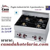 Fogão Industrial a Gás de 4 Queimadores da Linha 650 (transporte incluído) - Refª 100012