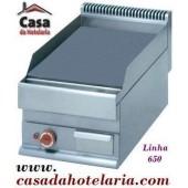 Placa de Grelhar Industrial Eléctrica Lisa Trifásica com Tratamento Cromo Duro de 1 Zona da Linha 650, 4500 Watts (transporte incluído) - Refª 100031