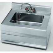 Lava-Mãos em Inox com Torneira Misturadora para Água Quente e Fria da Linha 650, Dimensões de 700x650x280/380 mm (LxPxA) (transporte incluído) - Refª 100049